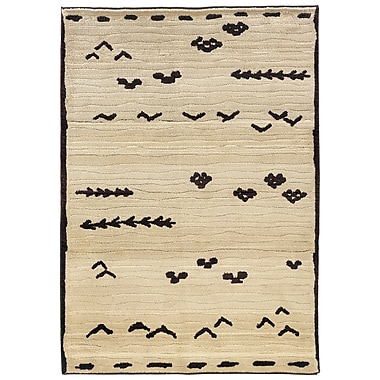 StyleHaven - Tribal Ivory/ Brown Indoor Machine-Made Polypropylene Area Rug (4' X 5'9