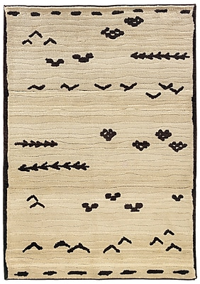 StyleHaven - Tribal Ivory/ Brown Indoor Machine-Made Polypropylene Area Rug (6'7