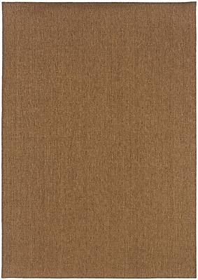 StyleHaven - Solid Tan/ Indoor/Outdoor Machine-Made Polypropylene Area Rug (7'10