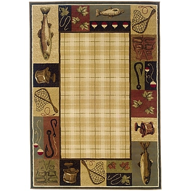 StyleHaven Southwest/Lodge Beige/ Black Indoor Machine-made Polypropylene Area Rug (5'3