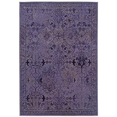 StyleHaven Overdyed Oriental Purple/ Grey Indoor Machine-made Polypropylene Area Rug (6'7
