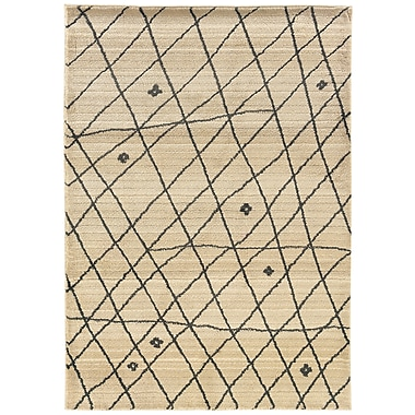 StyleHaven-Tribal Ivory/ Brown Indoor Machine-made Polypropylene Area Rug (6'7