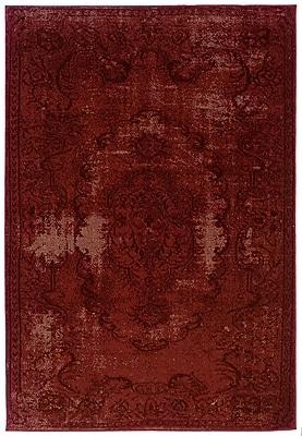 StyleHaven Overdyed Oriental Red/ Black Indoor Machine-made Polypropylene Area Rug (5'3