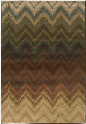 StyleHaven Geometric Ikat Brown/ Multi Indoor Machine-made Polypropylene Area Rug (6'7