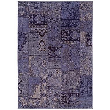 StyleHaven-Overdyed Oriental Purple/ Grey Indoor Machine-made Polypropylene Area Rug (5'3
