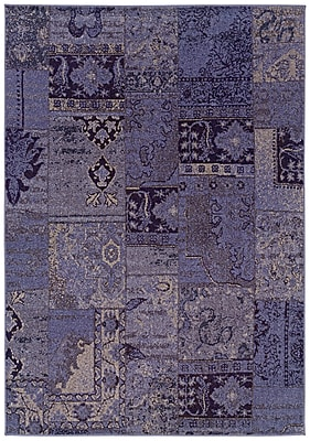 StyleHaven-Overdyed Oriental Purple/ Grey Indoor Machine-made Polypropylene Area Rug (7'10