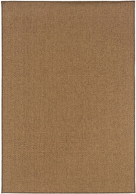 StyleHaven Solid Tan/ Indoor/Outdoor Machine-made Polypropylene Area Rug (5'3