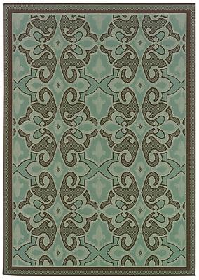 StyleHaven Oriental Blue/ Brown Indoor/Outdoor Machine-made Polypropylene Area Rug (5'3