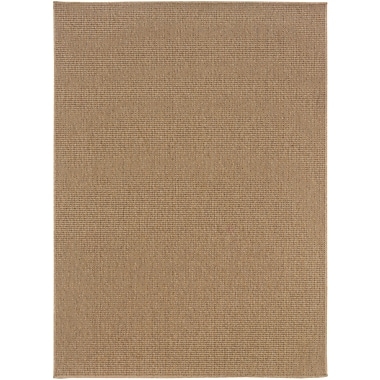 StyleHaven-Solid Sand/ Indoor/Outdoor Machine-made Polypropylene Area Rug (7'10