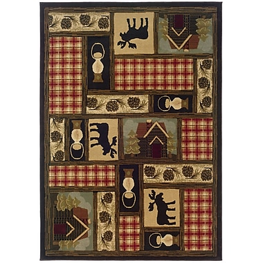 StyleHaven Southwest/Lodge Brown/ Red Indoor Machine-made Polypropylene Area Rug (5'3