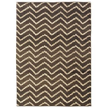 StyleHaven Tribal Chevron Brown/ Ivory Indoor Machine-made Polypropylene Area Rug (6'7
