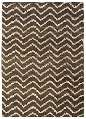 StyleHaven Tribal Chevron Brown/ Ivory Indoor Machine-made Polypropylene Area Rug (5'3
