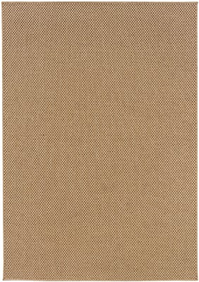 StyleHaven Solid Sand/ Indoor/Outdoor Machine-made Polypropylene Area Rug (5'3