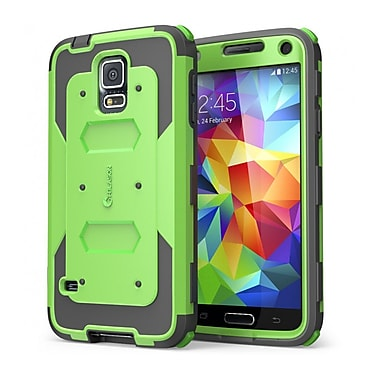 i-Blason Samsung Galaxy S5 Case, Armorbox Series Dual Layer Hybrid Hard / Soft Protective Case, Green