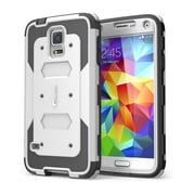 i-Blason Samsung Galaxy S5 Case, Armorbox Series Dual Layer Hybrid Hard / Soft Protective Case, White