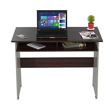 Inval America Student Writing Desk Melamine, Smoked Oak