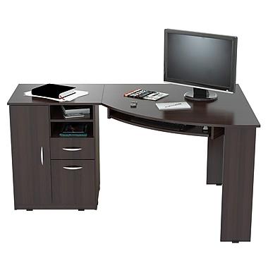Inval America Workstation/Computer Desk, Espresso Wengue (ET3115)