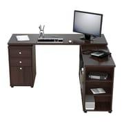 Inval America L-Shaped Workstation Desk, Espresso Wengue (ET3215)