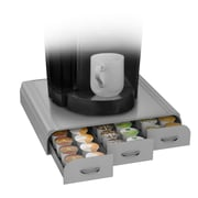 Mind Reader Anchor Coffee Pod Storage Drawer For 36 K-Cup, Silver/Gray