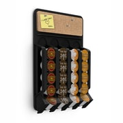 Mind Reader Mounty Coffee Pod Fridge/Wall Dispenser For 20 K-Cup, Black
