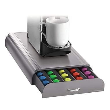Mind Reader Anchor Coffee Pod Storage Drawer For 50 Nespresso Capsules, Silver/Gray