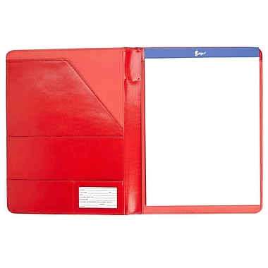 Royce Leather® Executive Writing Padfolio, Red
