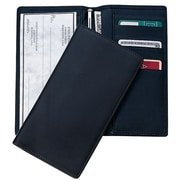 Royce Leather RFID Blocking Checkbook Register Secretary Wallet, Black by