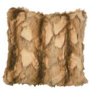 Wooded River Brandy Fox Fur Faux Fur Throw Pillow