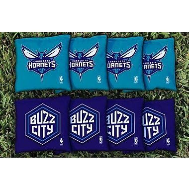 Victory Tailgate NBA Replacement All Weather Cornhole Bag Set; Charlotte Hornets
