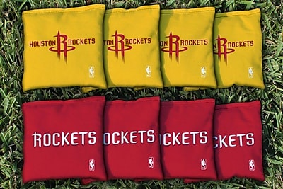 Victory Tailgate NBA Replacement All Weather Cornhole Bag Set; Houston Rockets