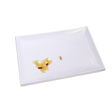 Shall Housewares Melamine Rectangular Serving Platter; White