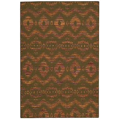 Nourison Spectrum Hand-Woven Flame/Chocolate Area Rug; 8' x 10'6''