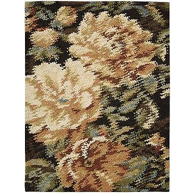 Nourison Impressionist Hand-Woven Black/Beige Area Rug; 5'6'' x 7'6''