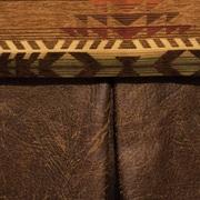 Wooded River Stampede Bed Skirt; Full