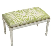 123 Creations Graphic Upholstered and Wood Bench