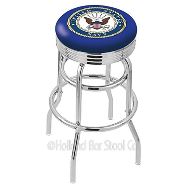 Holland Bar Stool US Armed Forces 25'' Swivel Bar Stool; Navy