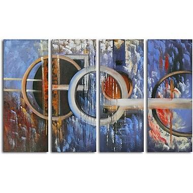 Omax Decor Ocean's Fourteen 4 Piece Painting on Canvas Set