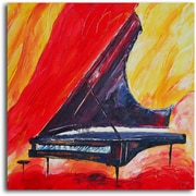 Omax Decor Pianist in Absentia' Painting on Wrapped Canvas