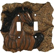 River's Edge Products Horse Switch Socket Plate