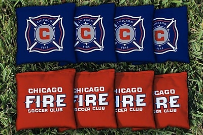 Victory Tailgate MLS Replacement All Weather Cornhole Game Bag Set; Chicago Fire
