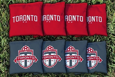 Victory Tailgate MLS Replacement All Weather Cornhole Game Bag Set; Toronto FC Reds