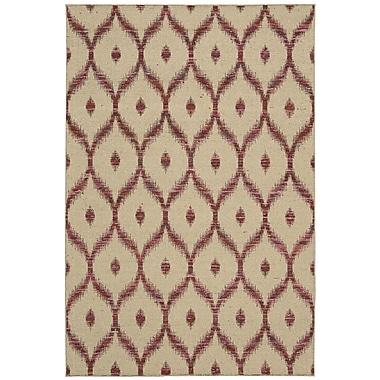 Nourison Spectrum Hand-Woven Beige/Burgundy Area Rug; 2'6'' x 4'