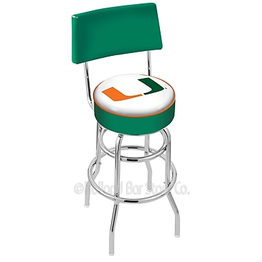 Holland Bar Stool NCAA 25'' Swivel Bar Stool; University of Miami