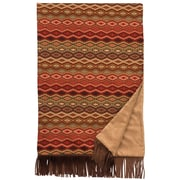 Wooded River Marquise IV Fawn Suede and Leather Throw