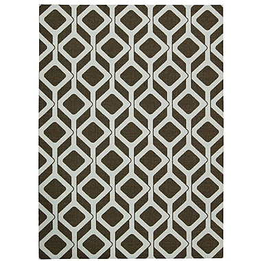 Nourison Enhance Chocolate/White Area Rug; 8' x 10'