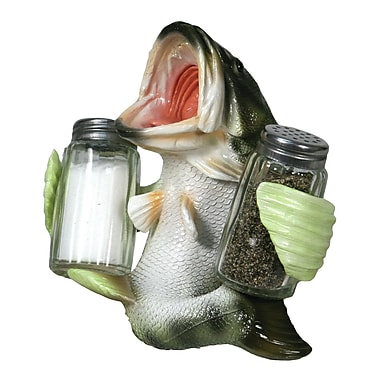River's Edge Products Glass 3 Piece Salt and Pepper Shaker Set