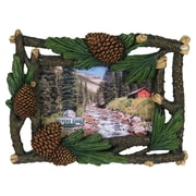 River's Edge Products 4'' x 6'' Pine Cone And Cedar Picture Frame