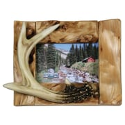 River's Edge Products Barnwood Deer Antler Picture Frame