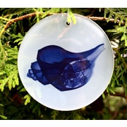 Radiant Art Studios X-ray Designs Blue Shell Frosted Glass Ornament