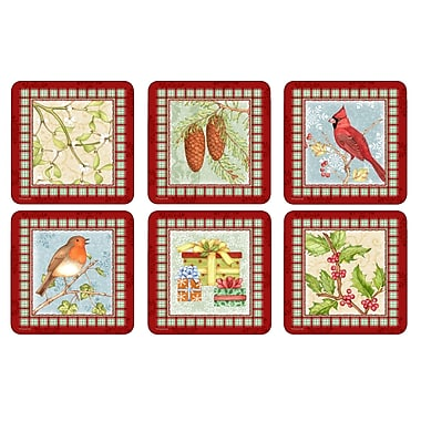 Pimpernel Christmas Sentiments Coaster Set (Set of 6)